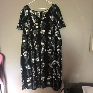 Sejour Women's Plus Size 24W Dress Shift Black NWT